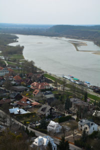View of the city and the river