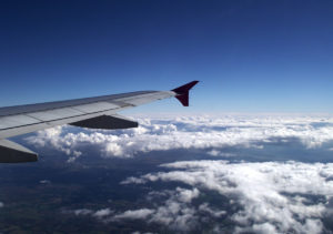 Ground seen from airplane window