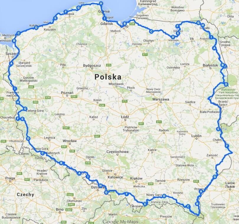 Motorbike trip around Poland