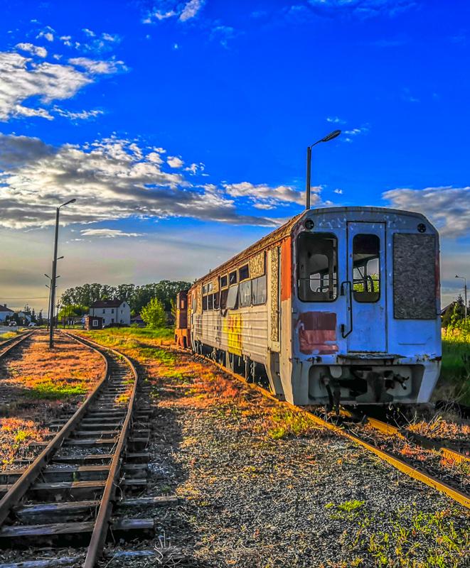 Abandoned train from around Przasnysz