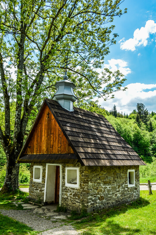 Old church in the Bieszczady Mountains