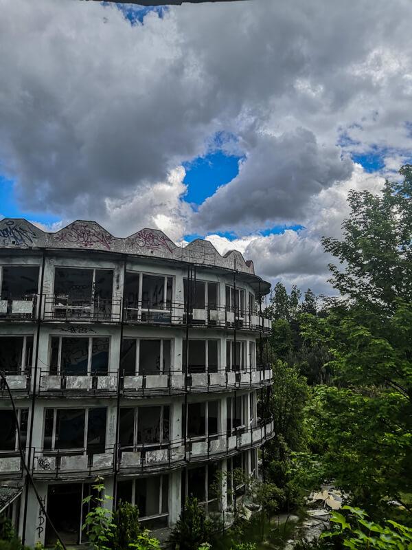 Ruins of a holiday resort
