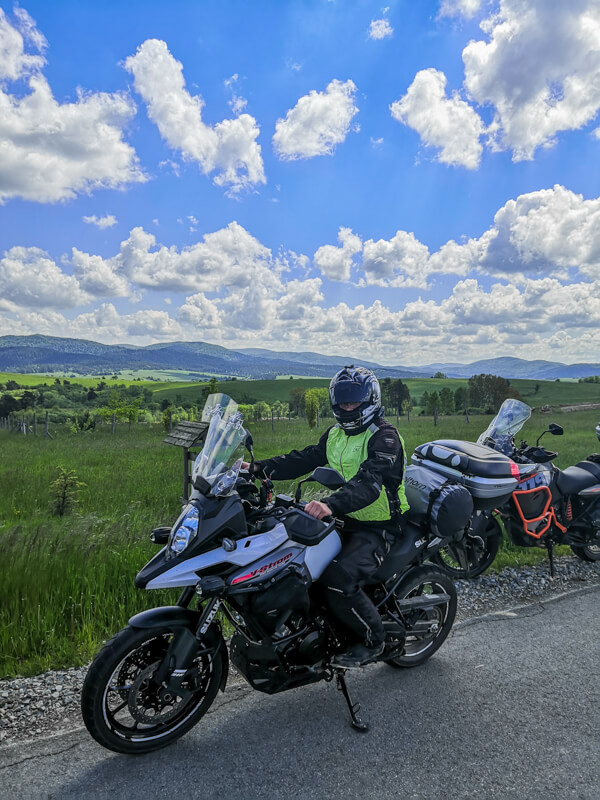 Motorcycle trip to the Bieszczady Mountains